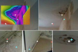 צילום תרמי לאיתור מקור נזילות ורטיבויות בקירות הבית