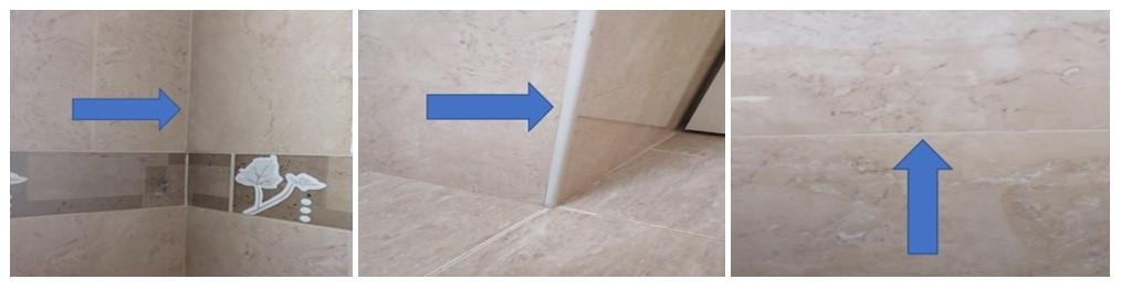 דוגמאות למישק ביניים במקלחת